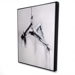 Framed 36 x 48 - 3D - Dancer on aerial contortion