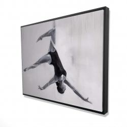 Framed 36 x 48 - 3D - Dancer on aerial silks