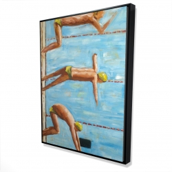 Framed 36 x 48 - 3D - Swimmers