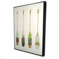 Framed 36 x 48 - 3D - Colorful nautical oars