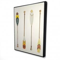 Framed 36 x 48 - 3D - Canoe paddles