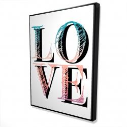 Encadré 36 x 48 - 3D - Amour coloré