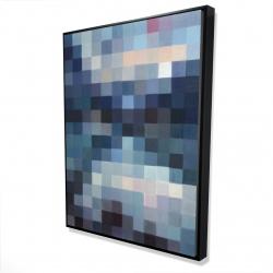Framed 36 x 48 - 3D - Pixelated mountainous landscape