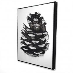 Framed 36 x 48 - 3D - Pine cone