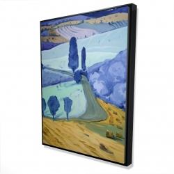 Framed 36 x 48 - 3D - Tuscany field