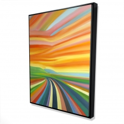 Framed 36 x 48 - 3D - Colorful road