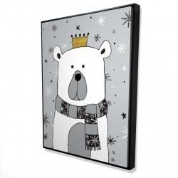 Framed 36 x 48 - 3D - Beautiful bear