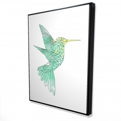Framed 36 x 48 - 3D - Geometric hummingbird