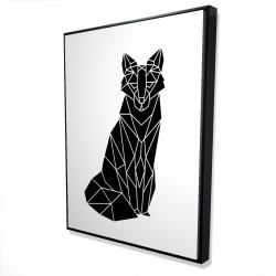 Framed 36 x 48 - 3D - Geometric fox