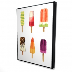 Framed 36 x 48 - 3D - Iced lollipop