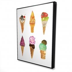 Framed 36 x 48 - 3D - Ice cream cones