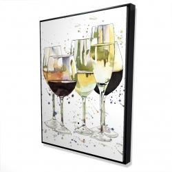 Framed 36 x 48 - 3D - Beautiful wine glasses