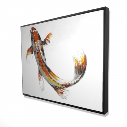 Framed 36 x 48 - 3D - Butterfly koi fish