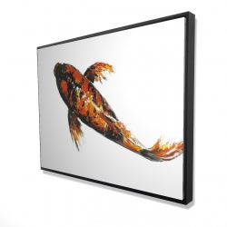 Framed 36 x 48 - 3D - Red butterfly koi fish