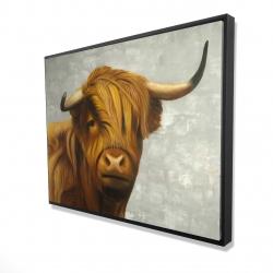 Framed 36 x 48 - 3D - Highland cattle