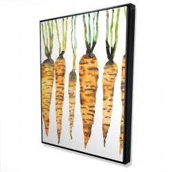 Framed 36 x 48 - 3D - Watercolor carrots