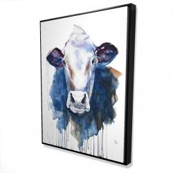 Encadré 36 x 48 - 3D - Vache à l'aquarelle
