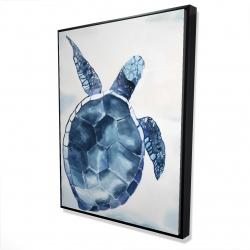 Framed 36 x 48 - 3D - Blue turtle