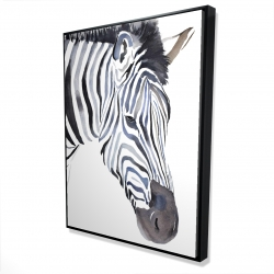 Framed 36 x 48 - 3D - Zebra