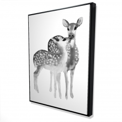 Framed 36 x 48 - 3D - Fawns love