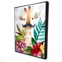 Framed 36 x 48 - 3D - Exotic giraffe