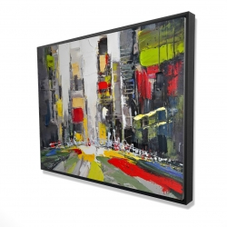 Framed 36 x 48 - 3D - Abstract texturized cityscape