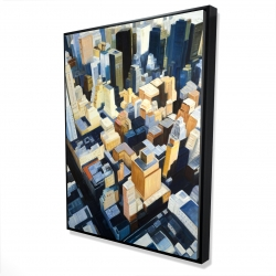 Framed 36 x 48 - 3D - Manhattan view of the empire state building