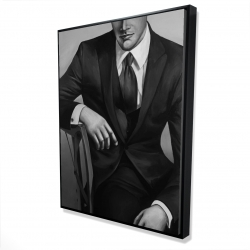 Framed 36 x 48 - 3D - Businessman