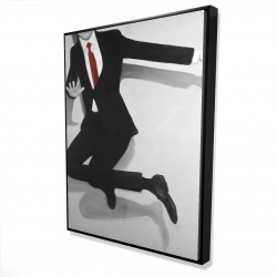 Framed 36 x 48 - 3D - Classical jumping man