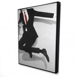 Framed 36 x 48 - 3D - Classical jumping man