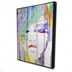 Framed 36 x 48 - 3D - Abstract colorful portrait