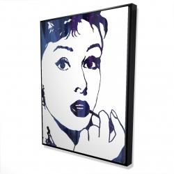 Framed 36 x 48 - 3D - Audrey hepburn: cigarillo