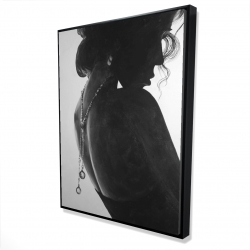 Framed 36 x 48 - 3D - Chic woman with jewels