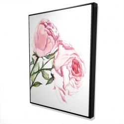 Framed 36 x 48 - 3D - Watercolor pink roses