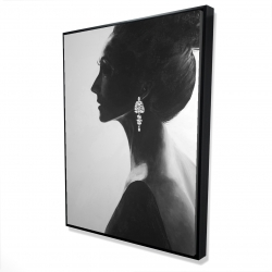 Framed 36 x 48 - 3D - Chic woman