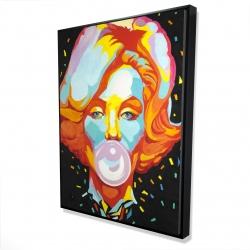 Framed 36 x 48 - 3D - Colorful maryline monroe bubblegum