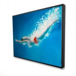 Framed 36 x 48 - 3D - Diving jump