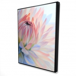 Framed 36 x 48 - 3D - Lotus pastel flower