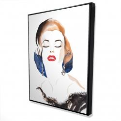 Framed 36 x 48 - 3D - Vintage chic maryline monroe