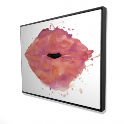 Framed 36 x 48 - 3D - Watercolor pink lipstick