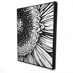 Framed 36 x 48 - 3D - Gerbera flower