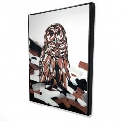 Framed 36 x 48 - 3D - Tawny owl