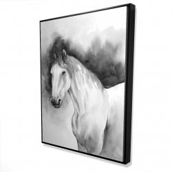 Framed 36 x 48 - 3D - Domino horse