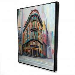 Framed 36 x 48 - 3D - Building architecture in new-york