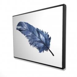 Framed 36 x 48 - 3D - Blue feather