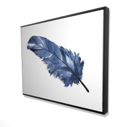 Framed 36 x 48 - 3D - Blue feather