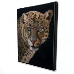 Framed 36 x 48 - 3D - Realistic fierce leopard