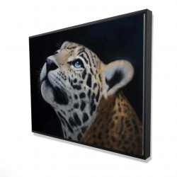 Framed 36 x 48 - 3D - Realistic leopard face