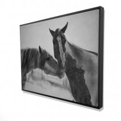 Framed 36 x 48 - 3D - Horses lover