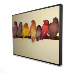 Framed 36 x 48 - 3D - Bird family